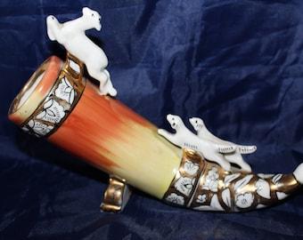 Figurine Horn Kiev Vintage Soviet Russian USSR Porcelain 1960s