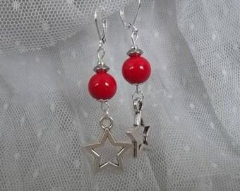 ET41 - Les Oléron stars pendants earrings