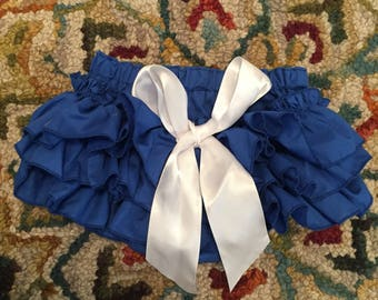 Blue Ruffle Baby Bloomers in Size 0-3 Months