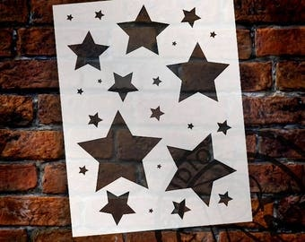 "Simple Stars - Art Stencil - 8.5"" x 11""  STCL 1255_1 by StudioR12"