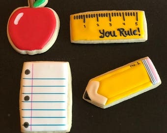 "12  (aprox 4"") or 18 (bite size) MATH themed cookies - TEACHER apreciaton SCHOOL christmas gift - college graduation gift - middle school"