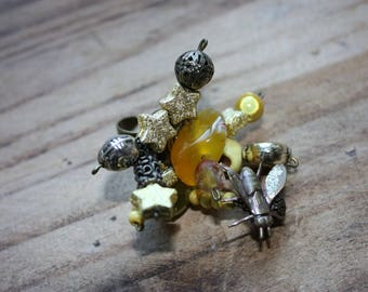Unique adjustable ring skull and small fly elbow oil