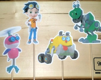 Rusty Rivets Inspired Centerpiece Character on a Stick