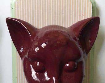 Cat Head Mount - Faux Taxidermy