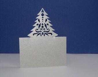 Brand instead Christmas decorated Christmas tree