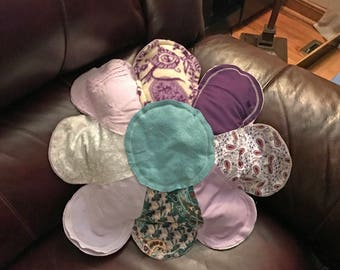 Single Flower Repurposed Clothes Pillow #1