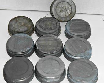 Set of 10,Zinc Lids,Zinc Lids for Ball Jars,Zinc Lids for Ball Jars,Zinc Lids for Mason Jars,Canning Zinc Lids,Canning Lids,Canning Lid Zinc