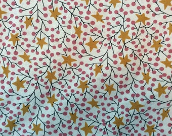 Stars and Holly Fabric