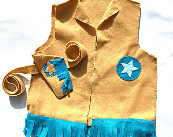 Cowboy Costume / Cowgirl Costume / Pretend Play / Imagination Toys / Playing Dress Up / Gifts For Kids / Handmade Gifts