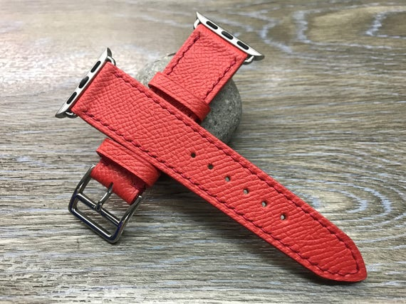 Apple Watch Band, Apple Watch 38mm, Leather Watch Band, Apple Watch Strap, FREE SHIPPING, Rose Jaipur Epsom, iwatch, Apple Watch 42mm