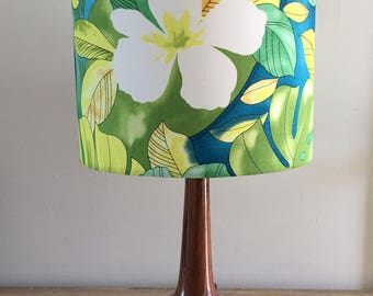 Lampshade in Tropical Green Yellow - light lighting nightlight palm rocket lamp