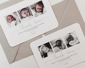 New Baby Thank You Cards Photograph Personalised Handmade Pack 50 60 70