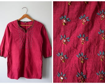 Vintage embroidered ethnic tunic   S/M