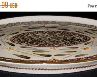 ON SALE Temp Tations OLD World Brown Ovenware Oval Serving Platter  Dinnerware 14 1/