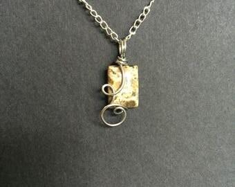 Wire Wrapped Jasper Stone Necklace