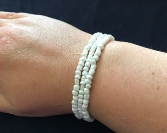 Beaded Bracelets- lot of 3- need restringing- fun to use for dress up or repurposing beads.