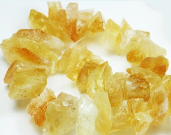 50% off Raw Citrine,  Nugget Gemstone Strand, ,Graduated Natural shape,One full strand about 20-30*11-20mm Nugget-GEM1306