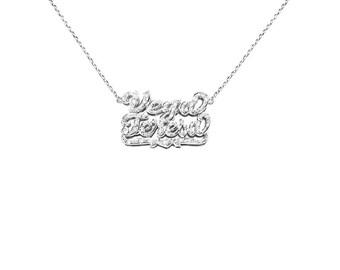 SNP22cz Silver Fabulous Cubic Zirconia Name Necklace