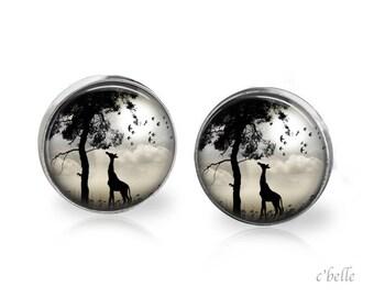Stud Earrings mystical landscape 11