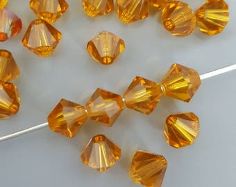 Swarovski 6mm Bicone Crystal Beads - TOPAZ - 10, 20 or 50