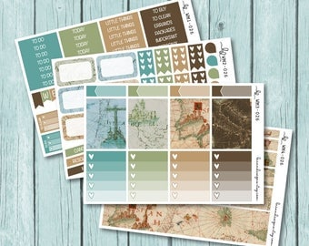 World Traveler Vertical Weekly Mini Kit, Planner Stickers for use with ERIN CONDREN LIFEPLANNER™