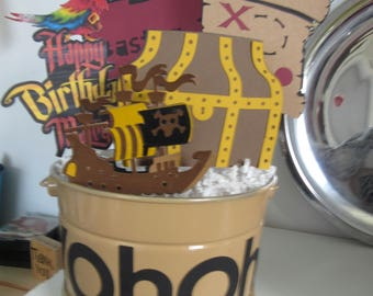 Custom Birthday Pirate Centerpiece
