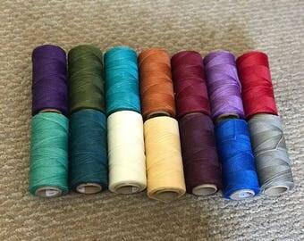 15 rolls of Brazilian waxed thread linhasita 170 meters each