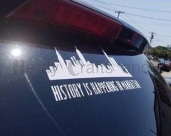 Hamilton inspired vinyl decal/bumper sticker