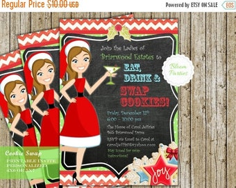 SALE LIMITED TIME Cookie Swap Invitation Christmas Cookie Exchange Party Eat Drink and Swap Cookies Invite Digital Printable