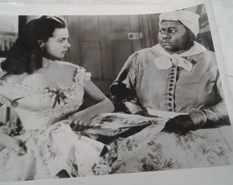 """Vintage Reproduction Vivian Leigh/ Butterfly McQueen/ """"Gone With The  Windy """"  Photo"""