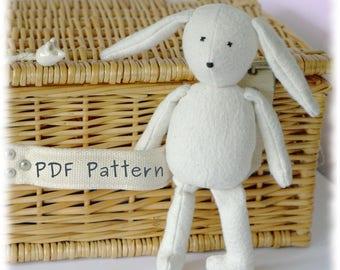 "Huggable 10"" Floppy Eared Bunny PDF Sewing Pattern & Photo Tutorial"