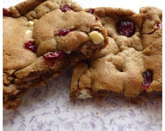 Cranberry and White Chocolate Chip Cookies (Box of 4 or 9)