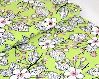 Organic Cotton Jersey Fabric | Paapii | Apple Garden Green