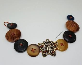 Buttoned Butterfly Bracelet
