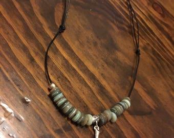 Antler adjustable beaded necklace