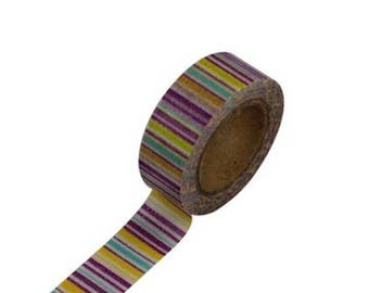 Masking tape stripes - Japanese washi paper tape