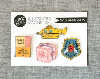 Wes Anderson - Magnet Set of 4