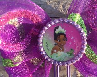 Mardi Gras Princess Tiana Disney Planner Bow Clip