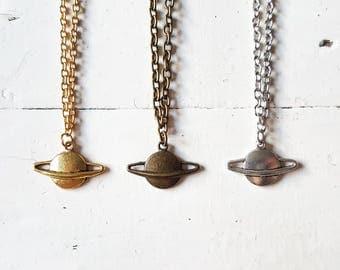 Saturn Necklace // Saturn Jewellery // Planet Necklace // Planet Jewellery // Space Jewellery // Solar System Jewellery