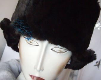 Hat-original-to winter Hat ear flaps, fausse-fourrure-cafe-noir-chocolat-brun, hat-Hat-unisex, great cold winter