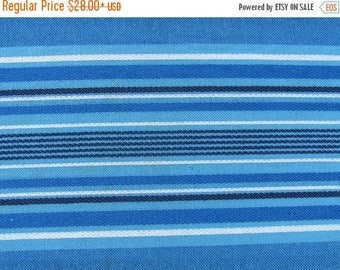 """20% OFF Scandinavian Tablecloth size 55"""" x 61"""" or Square Tablecloth 55"""" x 55"""" Blue / White / Black Striped Table Cloth; Blue Woven Table Cov"""