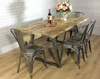 Reclaimed Industrial Chic Medieval 6-8 Seater Dining Table