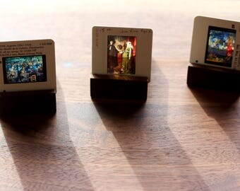 Tea Light Holder with Slide Photo Display, Handmade in Michigan