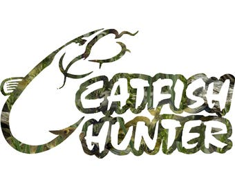 Fishing Decal Fishouflage Catfish Hunter