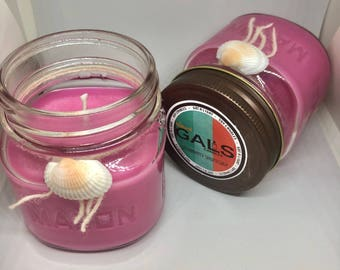 Strawberry Shortcake 8oz Mason Jar Soy Wax Organic Candle