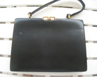 Truly Nice Black Leather Kelly Bag