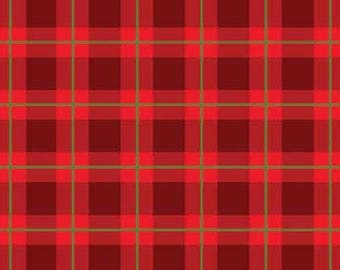 Cozy Cabin Red Christmas Plaid from Red Rooster by the yard