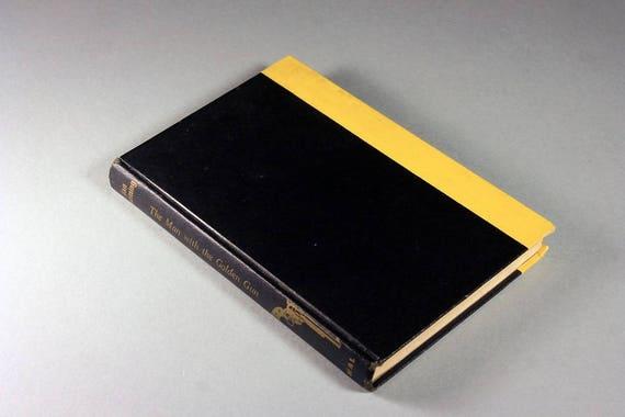1965 Hardcover Book, First Edition, The Man With The Golden Gun, Ian Fleming, Fiction, Spy Novel, 007 Novel, James Bond