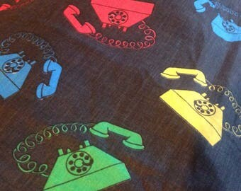 Vintage Telephone Fabric