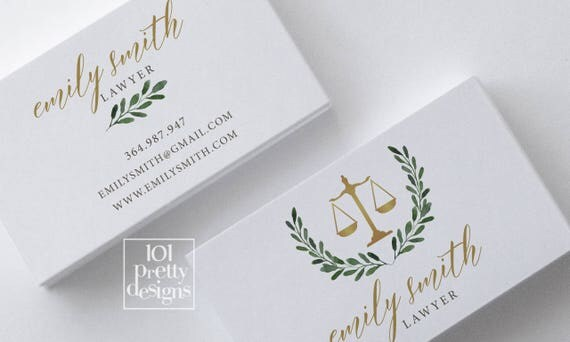 Golden business card lawyer business card design white marble il570xn reheart Images